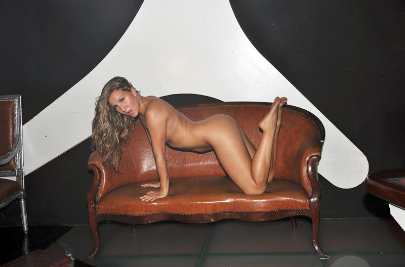 Girl posing on couch