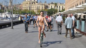 Naturally Naked Nudes - Bicycling