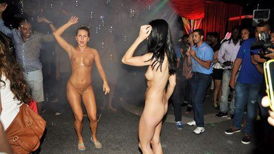 Nude girls in night-clubs