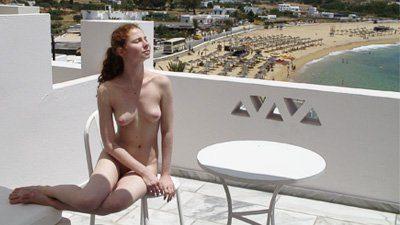 Nude girls showering